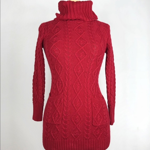 4802c2047be23 Ralph Lauren • Turtleneck cable knit tunic sweater.  M 5b7f8bab9e6b5b5182b3a4be